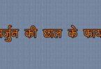 Arjun ki chaal benefits in hindi, अर्जुन की छाल के फायदे यह फायदा करता है हड्डी टूट जाने पर, काले बालों के लिए, बीपी, मुंह के छाले, बुखार और जल जाने पर।