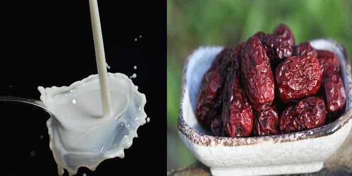 शरीर को ताकत देना हो या फिर दांत को मजबूत बनाना हो आप दूध और खजूर एक साथ सेवन कीजिए, health benefits of milk and dates in hindi.